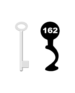 Buntbartschlüssel für Kastenschloss Nr. 162