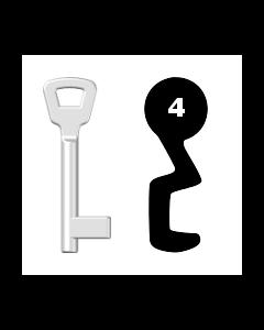 Buntbartschlüssel KIMA Nr. 4