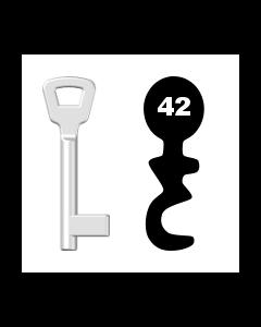 Buntbartschlüssel KIMA Nr. 42