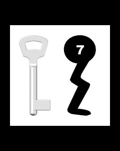 Buntbartschlüssel Nemef Nr. 7