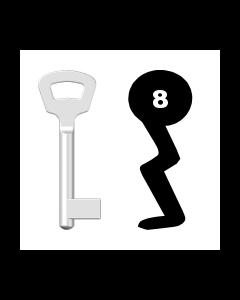 Buntbartschlüssel Nemef Nr. 8