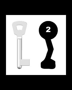 Buntbartschlüssel Novoferm Nr. 2