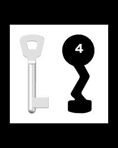 Buntbartschlüssel Novoferm Nr. 4