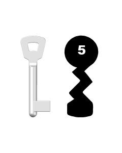 Buntbartschlüssel Novoferm Nr. 5