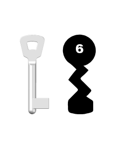Buntbartschlüssel Novoferm Nr. 6