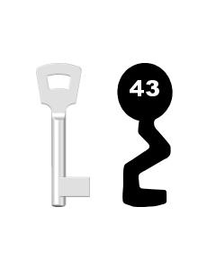 Buntbartschlüssel Pegau Nr. 43