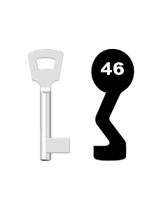 Buntbartschlüssel Pegau Nr. 46