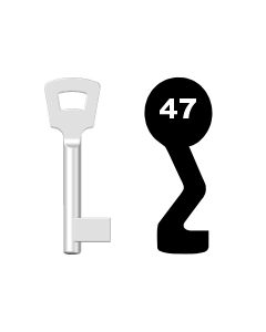 Buntbartschlüssel Pegau Nr. 47