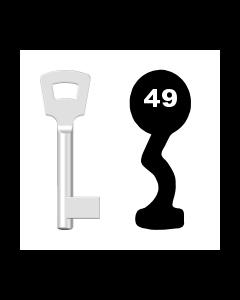 Buntbartschlüssel Pegau Nr. 49