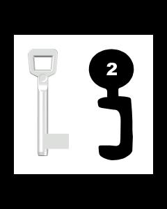 Buntbartschlüssel Schulte Schlagbaum Nr. 2