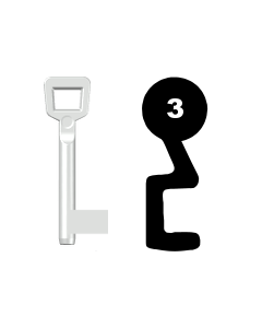 Buntbartschlüssel Schulte Schlagbaum Nr. 3