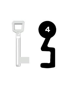 Buntbartschlüssel Schulte Schlagbaum Nr. 4