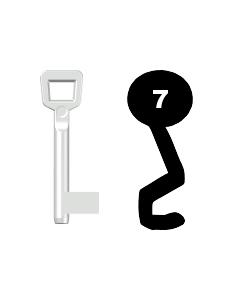 Buntbartschlüssel Schulte Schlagbaum Nr. 7