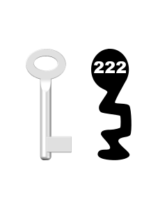 Buntbartschlüssel Standard Nr. 222