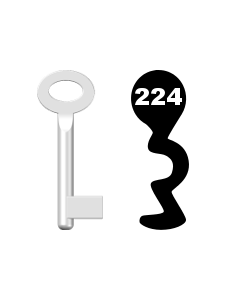 Buntbartschlüssel Standard Nr. 224