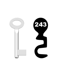 Buntbartschlüssel Standard Nr. 243