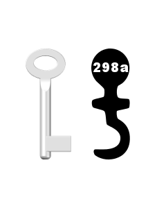 Buntbartschlüssel Standard Nr. 298A
