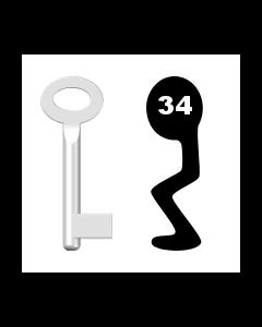 Buntbartschlüssel Standard Nr. 34