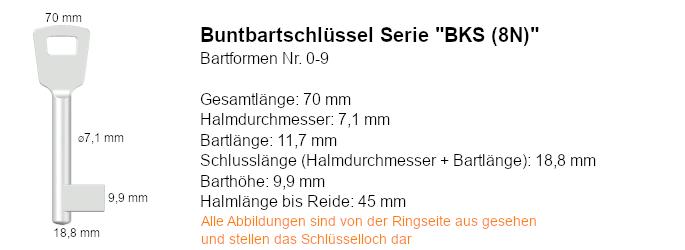 Buntbartschlüssel Serie BKS (8N)