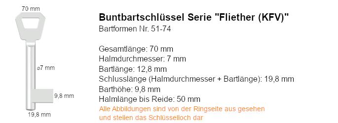 Buntbartschlüssel Serie Fliether (KFV)