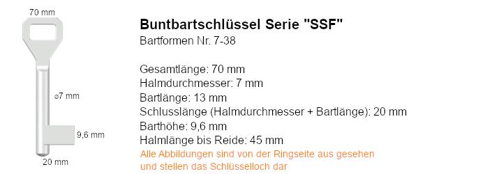Buntbartschlüssel Serie Sächsische Schlossfabrik (SSF)