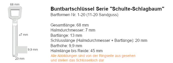 Buntbartschlüssel Serie Schulte-Schlagbaum